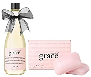 Philosophy Amazing Grace Soap Duo, Bath Bar and 11 oz Bubble Bath
