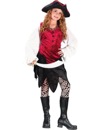 Kids-Costume Pirate Lady Child Sm Halloween Costume - Child Small