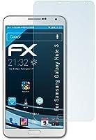3 x atFoliX Samsung Galaxy Note 3 Protecteur d'Écran - FX-Clear ultra claire
