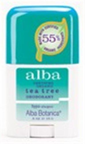Alba Botanica Clear Enzyme Deodorant Stick-Tea Tree-0.5 Oz