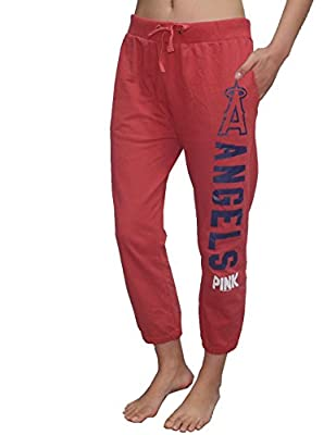Pink Victoria's Secret MLB Los Angeles Angels Womens Yoga Crop Pants
