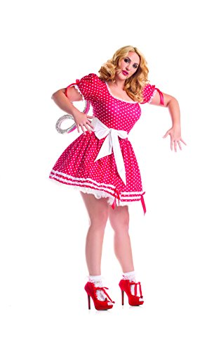 Party King Women's Plus Size Wind Up Doll Costume Set