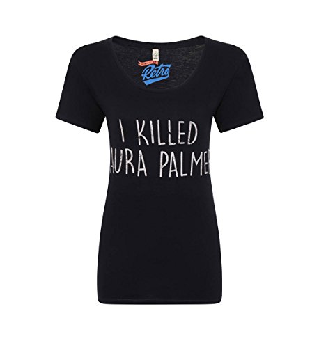 Twin Peaks I Killed Laura Palmer Womens Charcoal Grey T-Shirt (Twin Peaks T Shirt Womens compare prices)