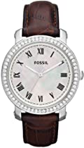 FOSSIL Emma Leather Watch - Brown