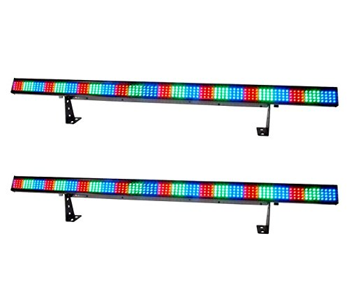 (2) New! Chauvet Colorstrip 4 Ch Dmx Led Rgb Dj Stage Wash Lighting Color Strips