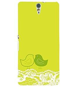 PRINTSWAG LOVE BIRDS Designer Back Cover Case for SONY XPERIA C5 DUAL