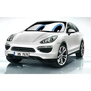 HS (12201) Blue Eyes Double-Sided Car Sunshade