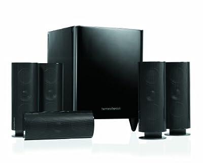 Harman Kardon HKTS60 Complete 5.1 Home-Theater Speaker System (Black) from JBL