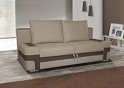 3er Sofa Sarah mit Staukasten und Bettfunktion - Abmessungen: 202 x 90 cm (B x T)