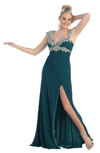 Prom Dress New Elegant Long Gown #899 (6, Teal)