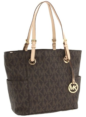 Michael Kors East West Tote Signature Brown