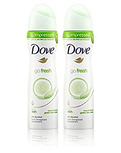 DOVE GO FRESH CUCUMBER COMPRESSED 48H DEODORANT ANTI-PERSPIRANT SPRAY 75ML
