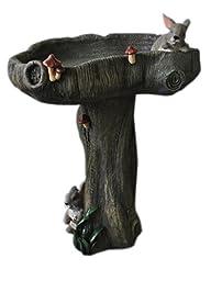 Kelkay 4309 Bunny Bird Bath Statue, Colors May Vary