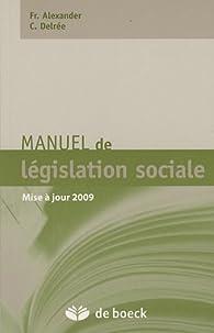 Manuel de législation sociale par Francine Alexander