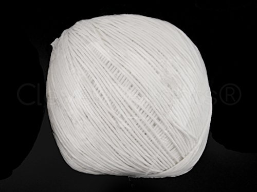 cleverdelights-500-foot-white-paper-string-ball-eco-friendly-twine-string-rope-roll-over-150-meters