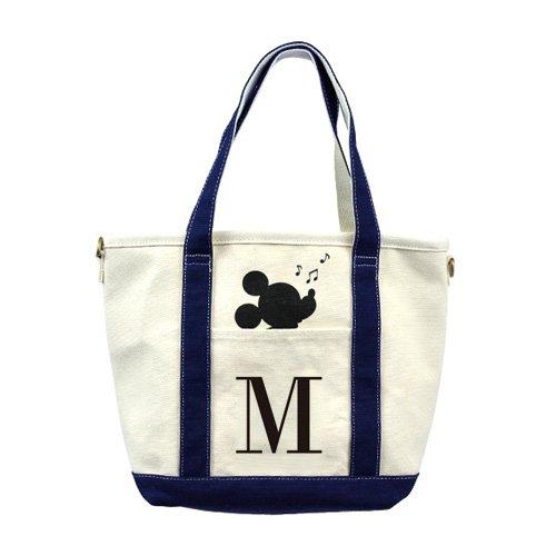 mistura 別注モデル ディズニー ミッキー コラボ キャンバス イニシャル トート バッグ イニシャルM