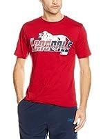 Lonsdale Camiseta Manga Corta Clanfield (Rojo)