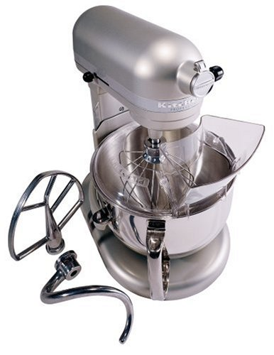 KitchenAid KP26M1XNP5 Professional 600 Series 6-Quart Stand Mixer, Nickel Pearl