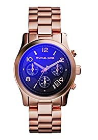 Michael Kors Runway Iridescent Dial Rose Gold-tone Ladies Watch MK5940