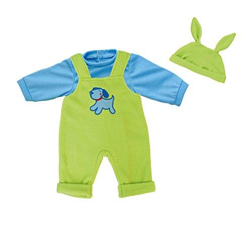 bayer-design-84642-vetement-pour-poupee-habit-poupon-salopette-vert-bleu-40-46-cm
