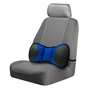 Portable Lumbar Seat Support with Strap BLUE