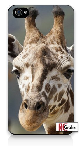 Premium Direct Print Tall Exotic Giraffe Profile iphone 6 Quality Hard Snap On Case for iphone 6/Apple iphone 6 - AT&T Sprint Verizon - White Case PLUS Bonus RCGRafix The Best Iphone Business Productivity Apps Review Guide