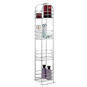Vonhaus 4 tier chrome bathroom storage for Bathroom accessories stand