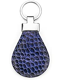Rene Genuine Leather Blue Color Key Ring