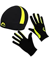 Unisex More Mile Thermal Hat and Glove Running Set MM1773