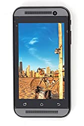 Kimfly Elite E23 Grey 4 Inch Touch Screen Display Dual Sim Touchscreen Android V4.4.2 Mobile Phone HD Camera Cellphone WiFi Bluetooth Email FM Radio Mp3 Mp4 (Grey)
