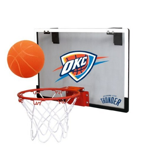 NBA Oklahoma City Thunder Game On Indoor Basketball Hoop & Ball Set Licensed Products Toy Basketball autotags B004D0SX8Y