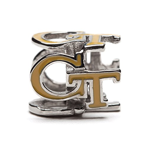 Georgia Tech Yellow GT Bead Charm Jewelry For Bracelet or Necklace