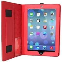 The Joy Factory CFA206 SmartBlazer Business Folio Case for iPad Air and iPad 9.7 (2017) (Black/Red)