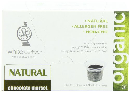 White Coffee Single Serve Coffee, Chocolate Morsel,