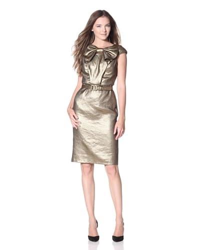 Eva Franco Women's Trinity Metallic Dress  - 24K