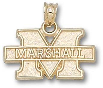 Marshall Thundering Herd New M Marshall 7 16 Pendant - 14KT Gold Jewelry by Logo Art