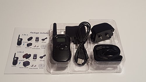 Rechargeable LCD 100LV Level Electric Shock Vibra 300m Remote Control Pet Dog Training Collar