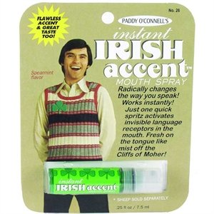 Gag Gifts - Instant Irish Accent Breath Spray