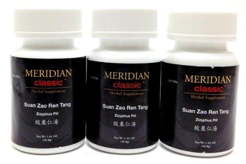 Meridian Classic Premium Brand Teapills - Suan Zao Ren Tang, Zizyphus Pill - (3 Bottles)