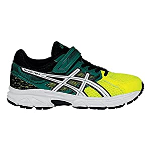 ASICS Pre Contend 3 PS Running Shoe (Infant/Toddler/Little Kid), Flash Yellow/White/Green, 10 M US Toddler