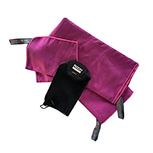 Aventu Gear PackDry MicroTowel, Berry, Set: X-Large + Small