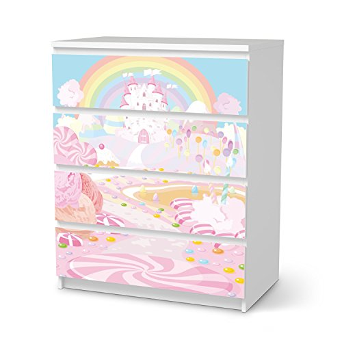 Mbelfolie-fr-IKEA-Malm-4-Schubladen-Design-Kindermbel-Mbeldeko-Klebesticker-Aufkleber-Folie-frhliche-Einrichtungsideen-IKEA-Mbelfolie-Kinder-Wandtattoo-Kids-Kinder-Candyland