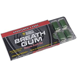Scent Shield Mens Deodorant Gum (Green, 12-Count) by Scent Shield
