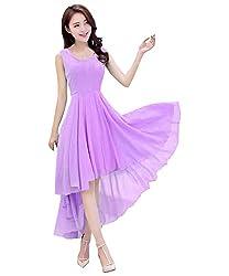Gopika Creations Light Purple Color Sleeveless Dress