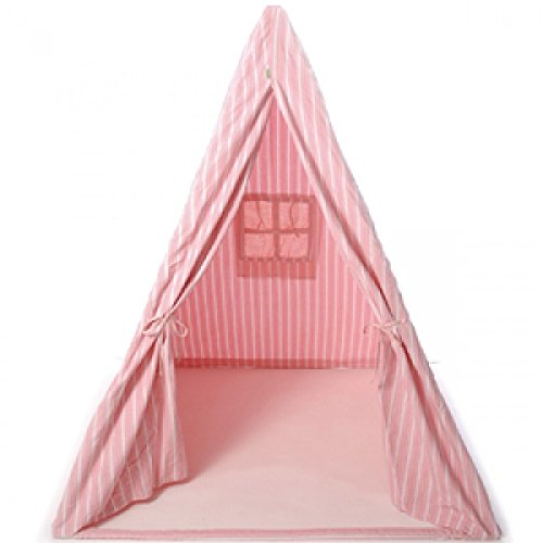Win Green - Wigwam - Zelt - Rosarot Gestreift - Tent - Rose Multi-Stripe Wigwam