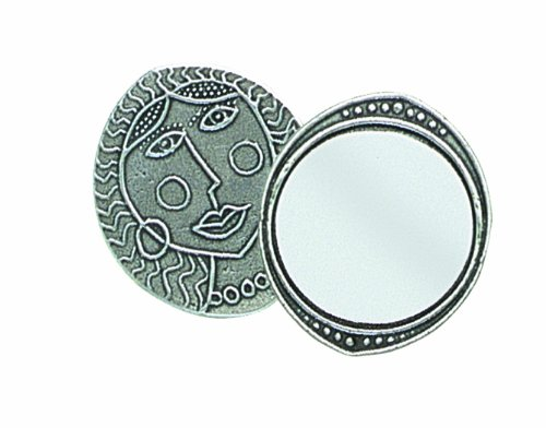 Crosby & Taylor Lady Oval Pewter Purse Mirror