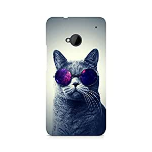 Ebby Classy Cat Premium Printed Case For HTC One M7