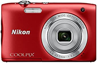 """Nikon Coolpix S2900 Appareil photo numérique compact 20,1 Mpix Écran LCD 2,7"""" Zoom optique 5X Rouge"""