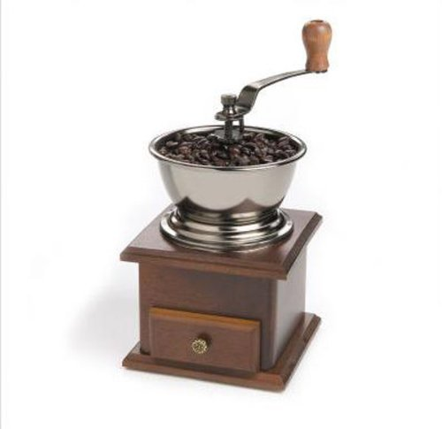 SODIAL(R) Mini Wooden Coffee Bean Spice Vintage Style hand grinder 6