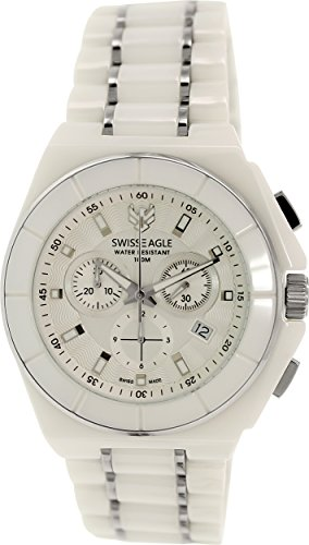 Swiss Eagle Reloj de cuarzo Dive Blanco 46  mm